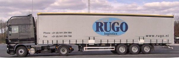 vrachtwagen van rugo logistics
